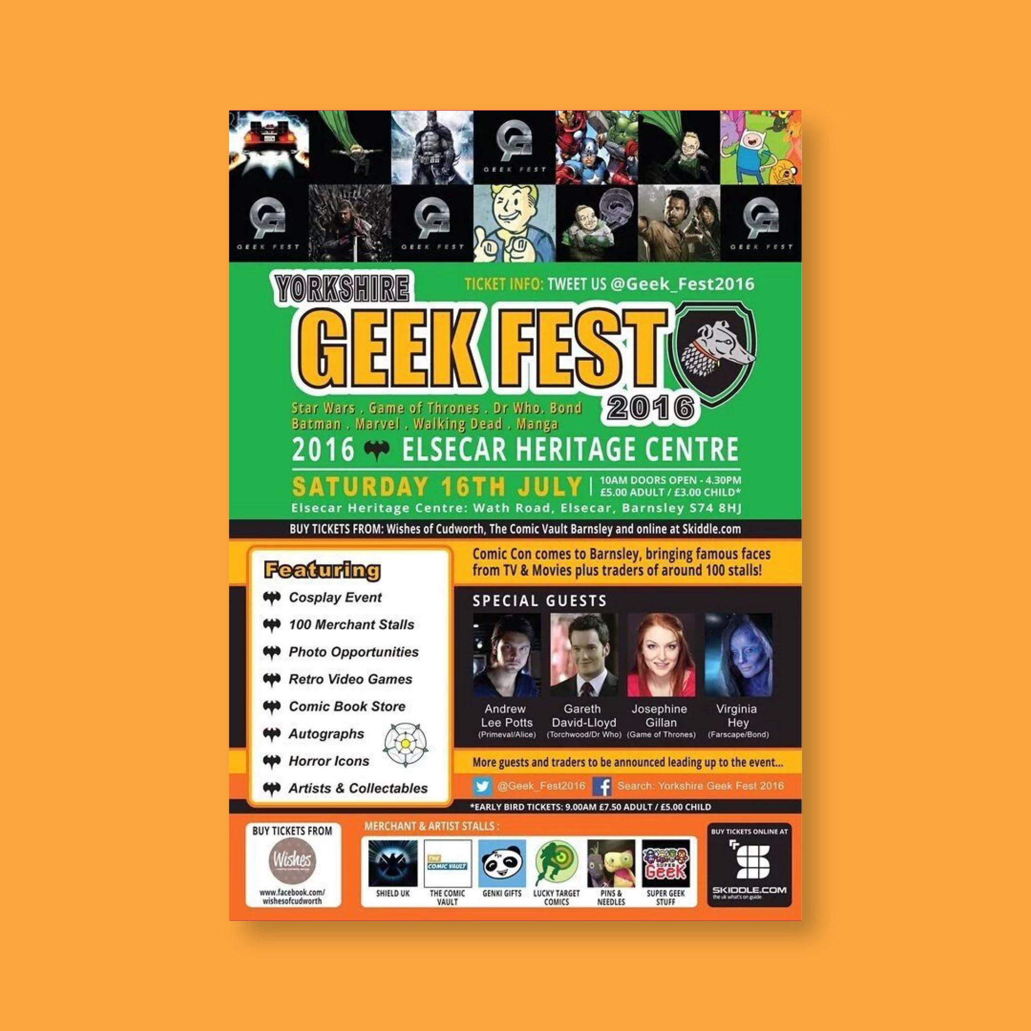 Yorkshire Geek Fest Poster